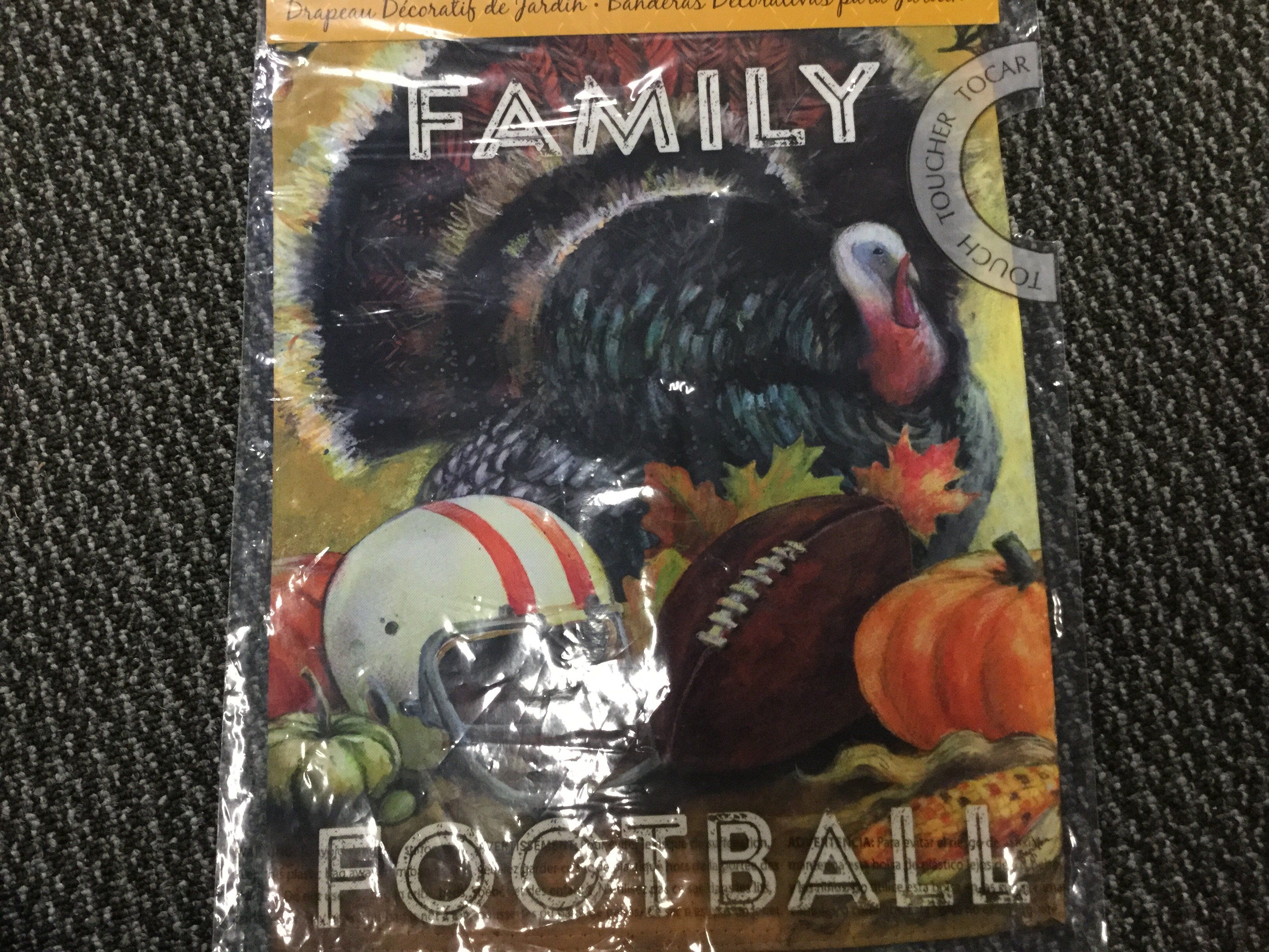 Food family football flags and products