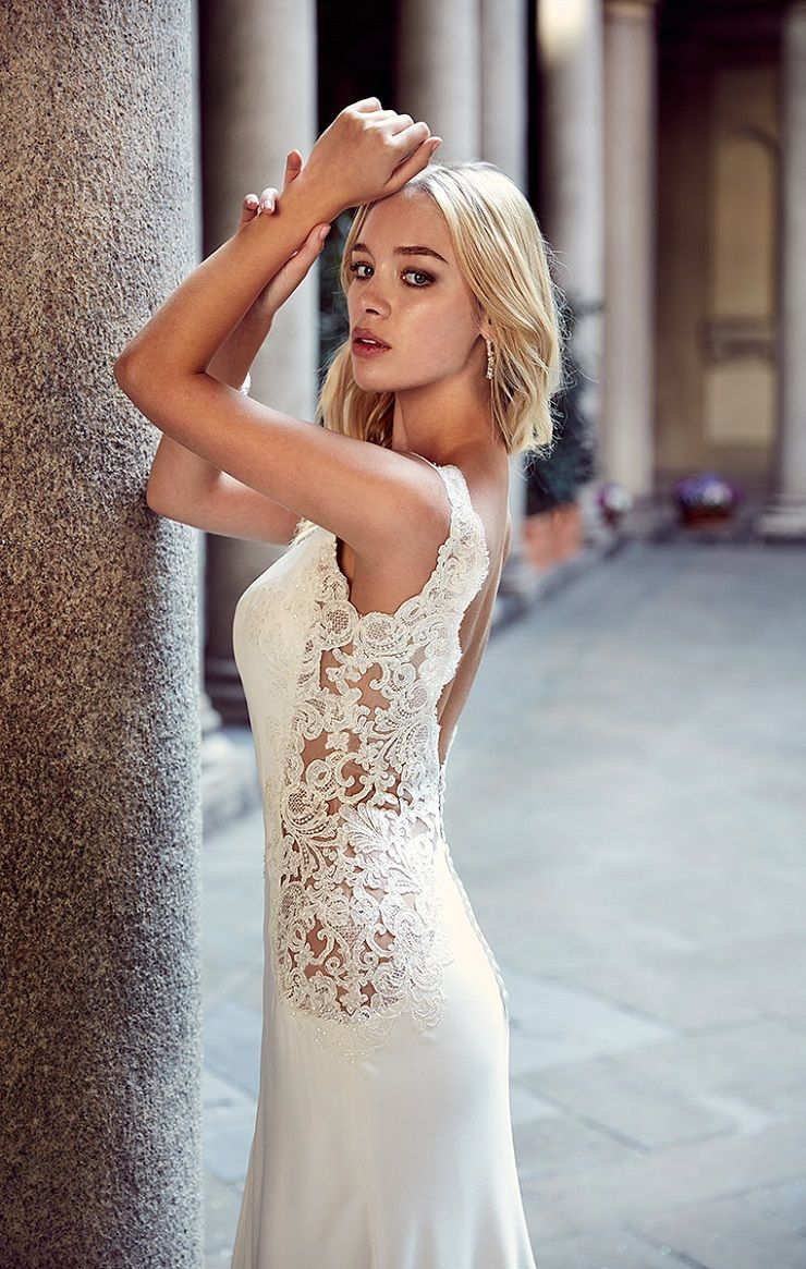 Eddy K Milano Style MD228 - Cap Sleeves, Sheath wedding dress | itakeyou.co.uk #weddingdress #wedding #weddingdresses #weddinggown #bridalgown #bridaldress #weddinggowns #engaged