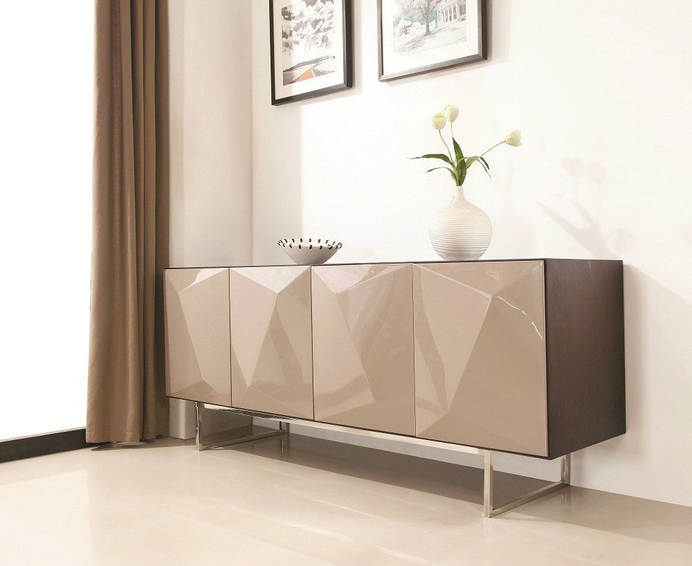 J Amp M Chic Modern Nova Dark Oak With Taupe High Gloss Doors