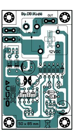 PCB Layout Speaker Protector | Speaker's | Speaker box