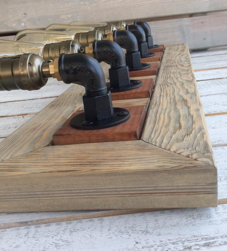 Photo of Bathroom vanity lights, rustic bathroom vanity, bathroom lighting, farmhouse bathroom wall lights, handmade, farmhouse vanity light