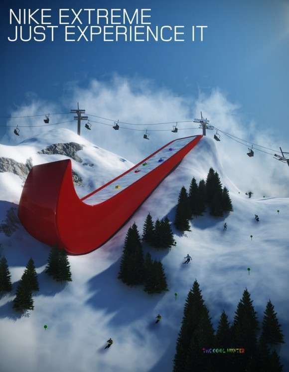 Athletic Typography Clever Advertising Nike Ad Funny Commercial Ads