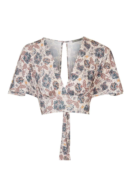 b881da99294b7   Floral Kimono Sleeve Crop Top by Love - Tops - Clothing - Topshop Europe