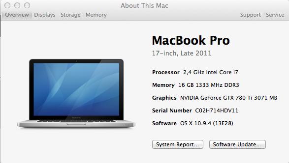 Guia Macbookpro 2011 Egpu Setup Macbook Pro Software Update Macbook Pro 17 Inch
