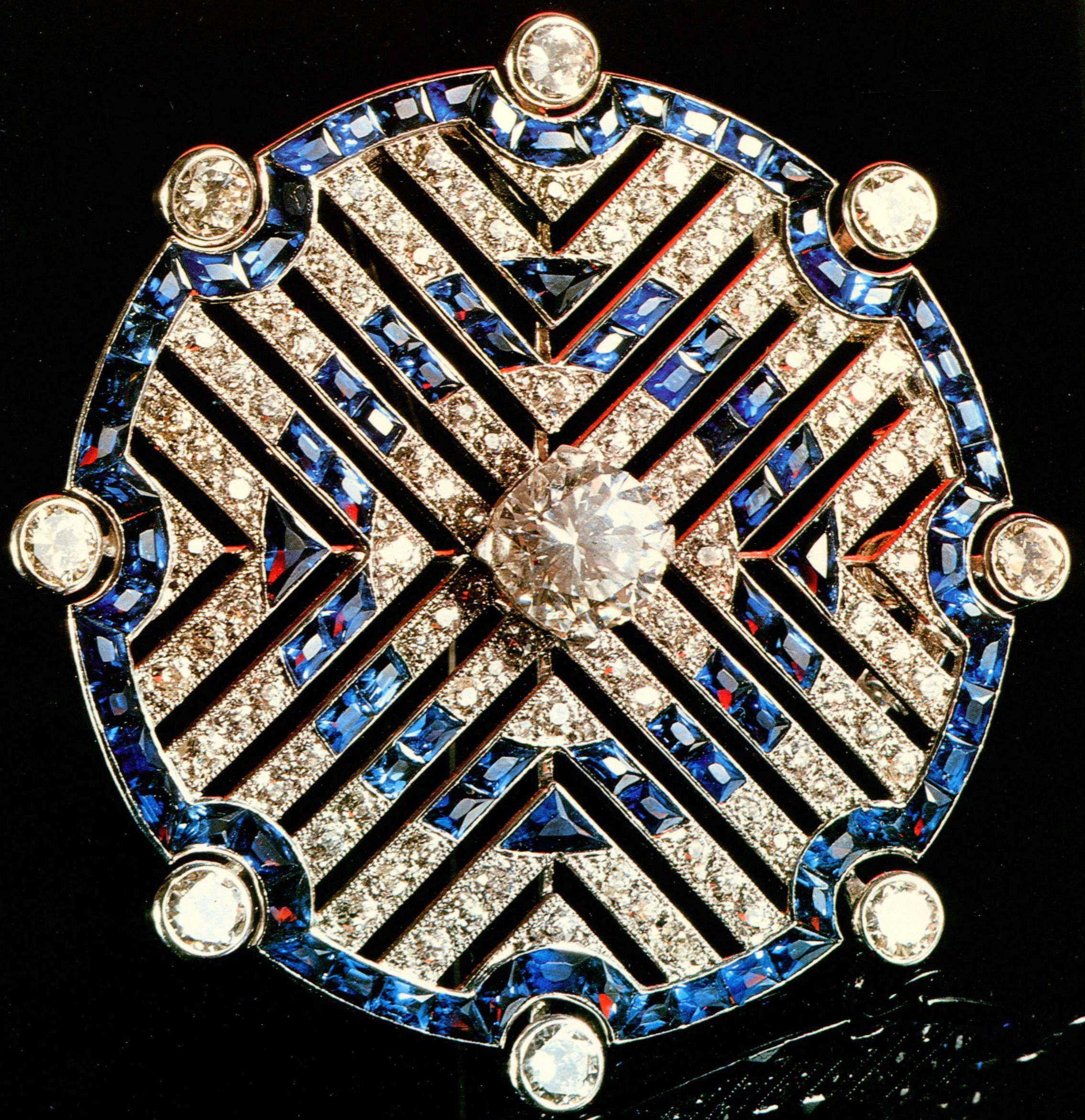 Pave Art Deco Brooch