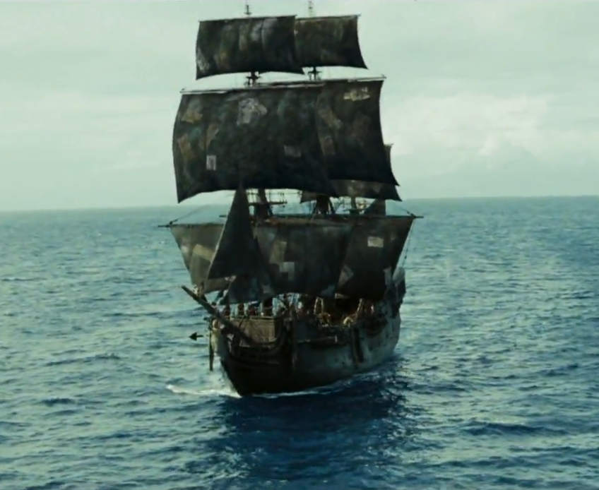 pirates of the caribbean the black pearl front view ...