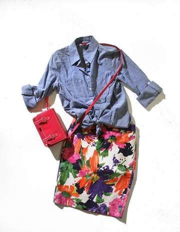 8781ad83def7 Cute summer outfit! J. Crew floral No. 2 Pencil Skirt