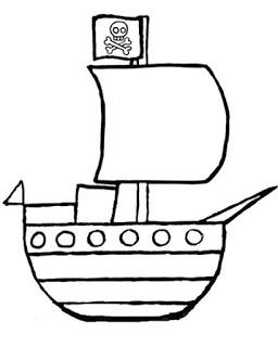 رسومات اطفال فنية سهلة للاطفال رسم بسيط افكار لوحات فنية بالرصاص جميلة تعليم الرسم كيف ترسم سفينة Pirate Day Pirate Birthday Pirates