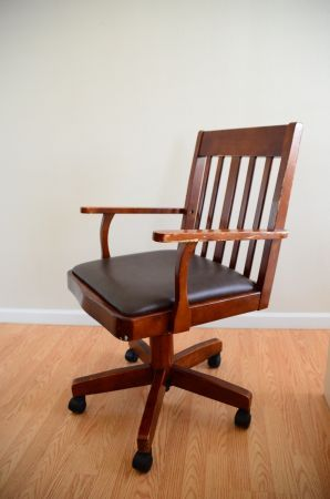 San Jose: Vintage Style Office Chair (Leather Seat) $20   Http:/