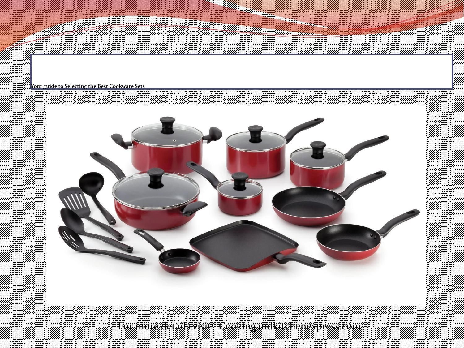 Your Guide To Selecting The Best Cookware Sets Cookware Set Pots And Pans Sets Dishwasher Safe Cookware