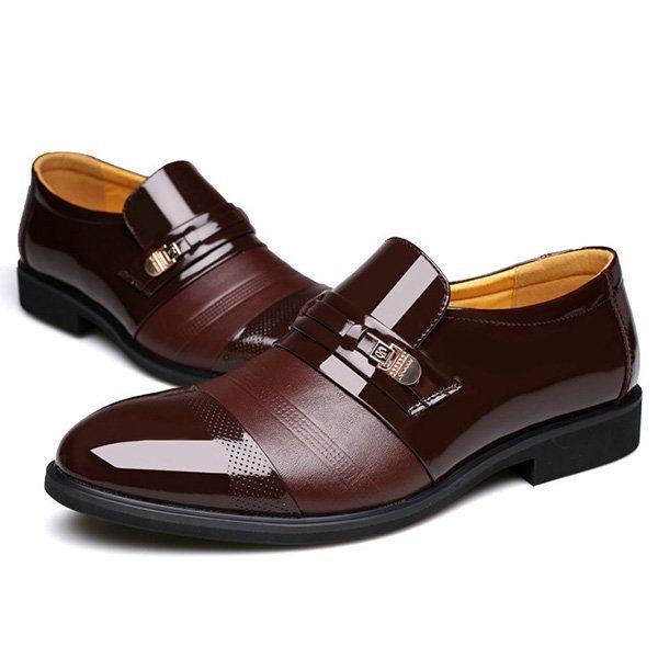 Hommes Cap Orteil Bout Pointu Chaussures Habillées D'affaires QCWty