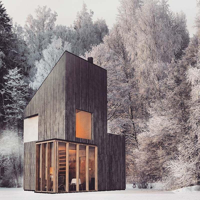 tiny-modern-retreat-fo4a Modern architecture Pinterest Modern