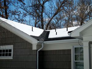 Heated Roof Eave And Valley To Prevent Ice Buildup.