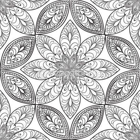 Patrón floral abstracto — Vector de stock | embroidery B en 2018 ...