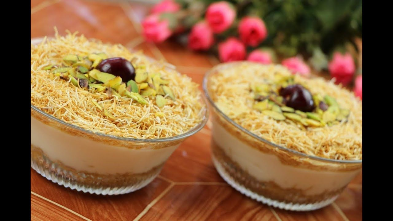 حلويات تركية رمضانية سهلة وسريعة بدون فرن حلى بارد بالكنافة والمهلبية مع رباح محمد الحلقة 468 Youtube Ramadan Desserts Dessert Recipes Turkish Sweets