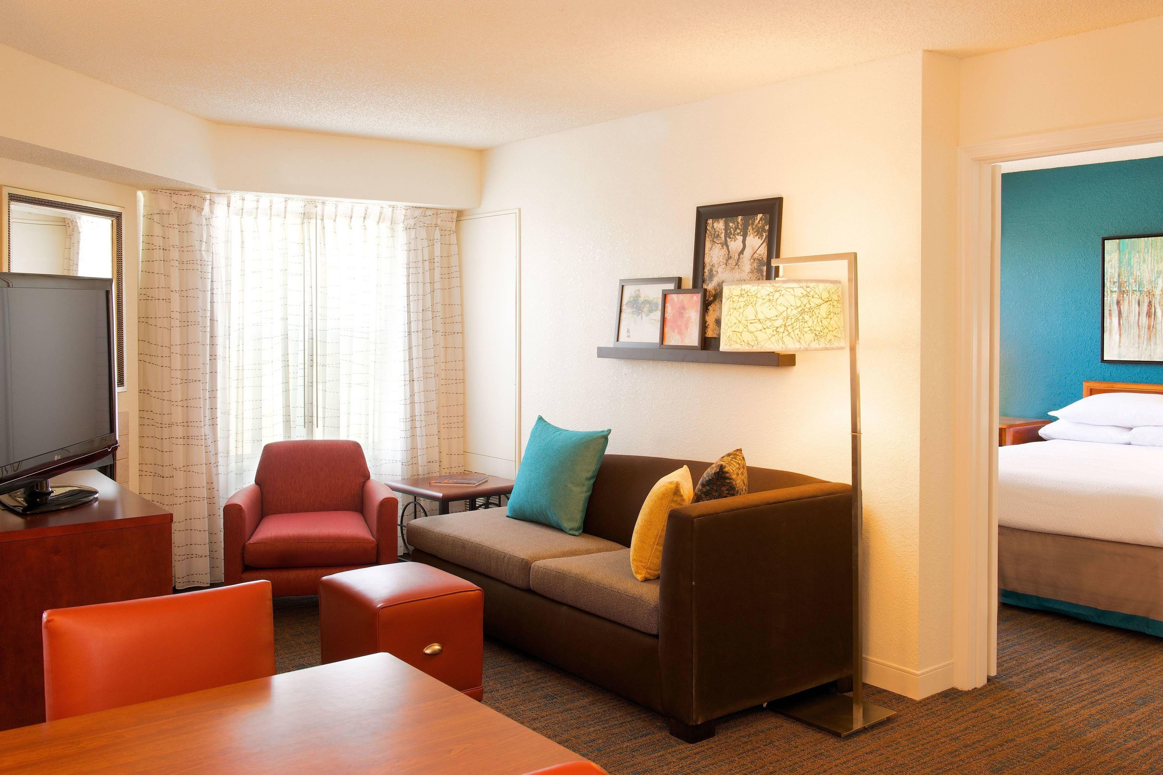 Residence Inn Evansville East TwoBedroom Suite Living