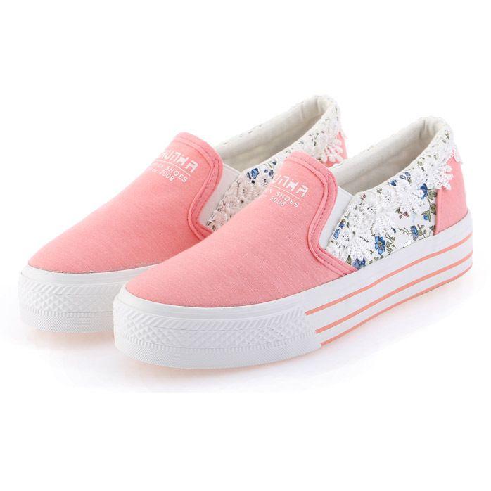 Encontrar Más Moda Mujer Sneakers Información acerca de Womans casual shoes  sneakers mujeres plataforma de verano zapatos de lona florales para mujer  ...