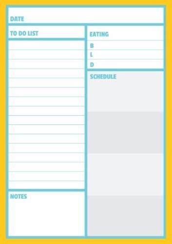 template for daily tasks