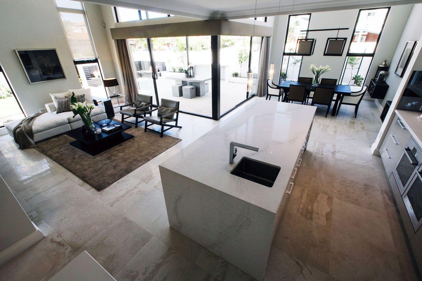 Best Lauren Interiors Caesarstone Calacatta Nuvo White Marble 400 x 300