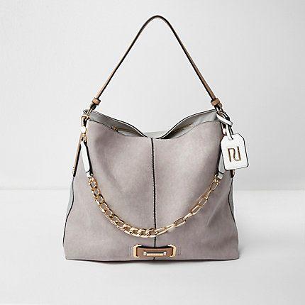 490ea197891f Grey chain front slouch underarm bag $74.00 | handbags in 2019 ...