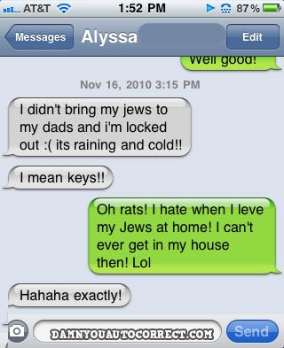 Autocorrect fail - Jews house - http://jokideo.com ...