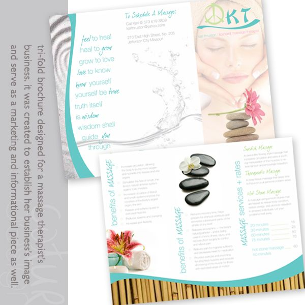 Massage Brochure Samples | Kari-Massage-Brochure | Working