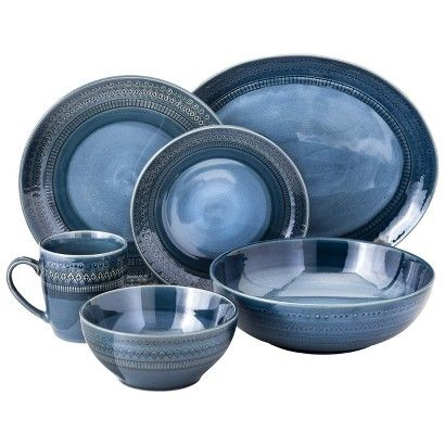 Threshold™ Kingsland Dinnerware Collection - Blue  sc 1 st  Pinterest & Threshold™ Kingsland Dinnerware Collection - Blue | For the Home ...