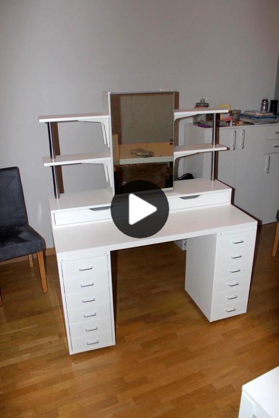 Edullinen IKEA peilipöytä (meikki turhamaisuus)