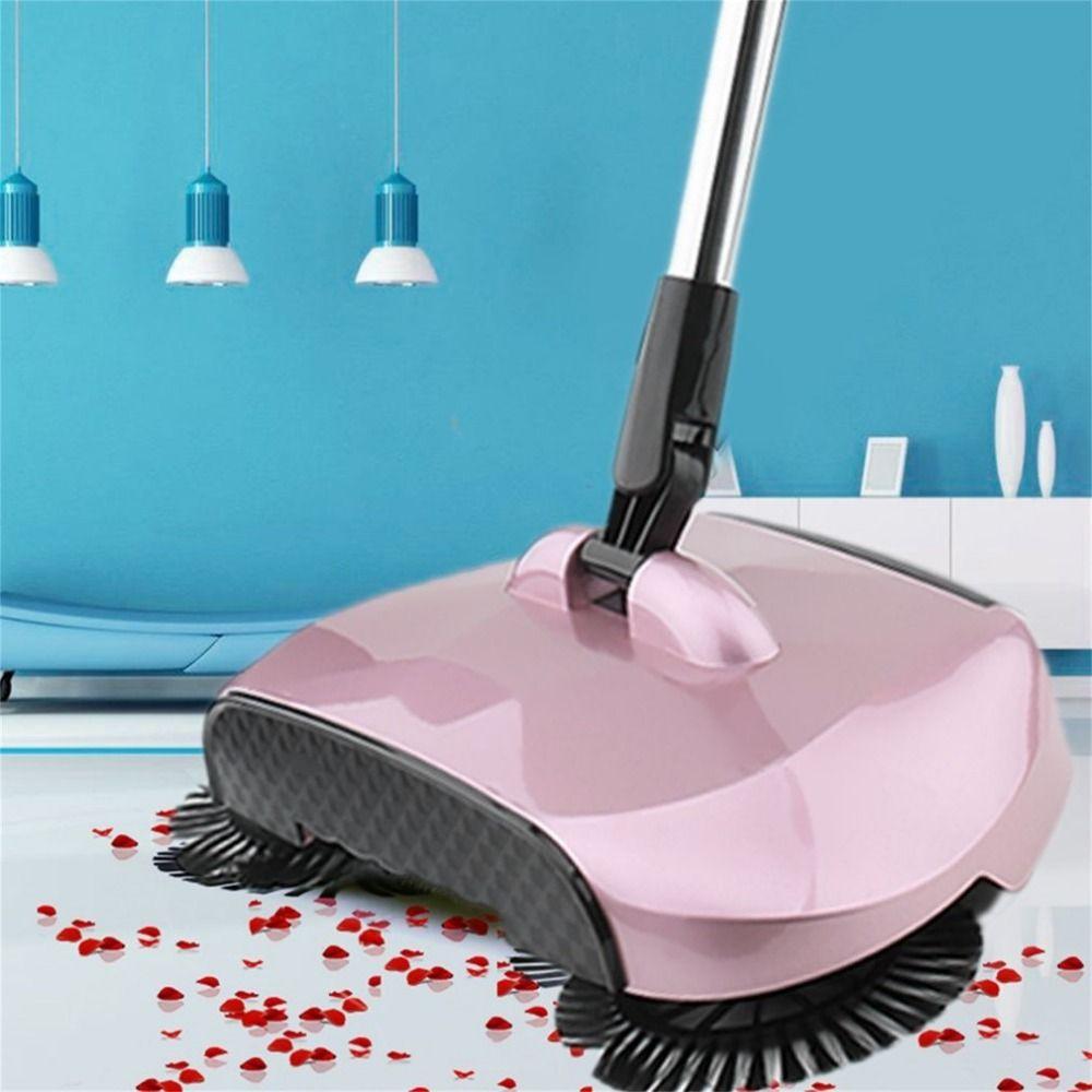 Check Discount Sweeping Machine Push Type Hand Push Magic Broom Dustpan Handle Household Cleaning Package Magic Brush Cleaning Household Plastic Broom