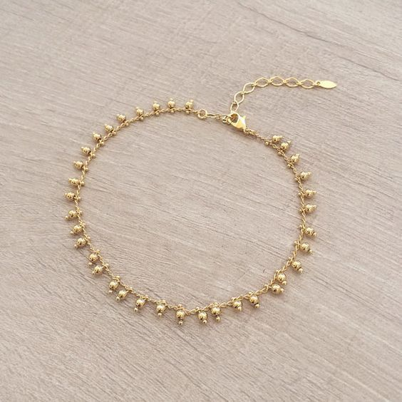 gold anklet deals bracelet charm gg swarovski elements white in plating ankle