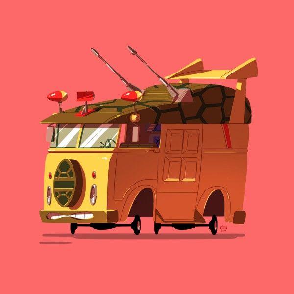 Les véhicules célèbres de films et séries par Ido Yehimovitz