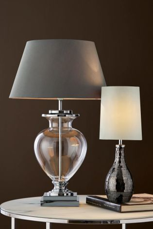 Buy chrome glass table lamp from the next uk online shop glass table lampsfront roomsfloor