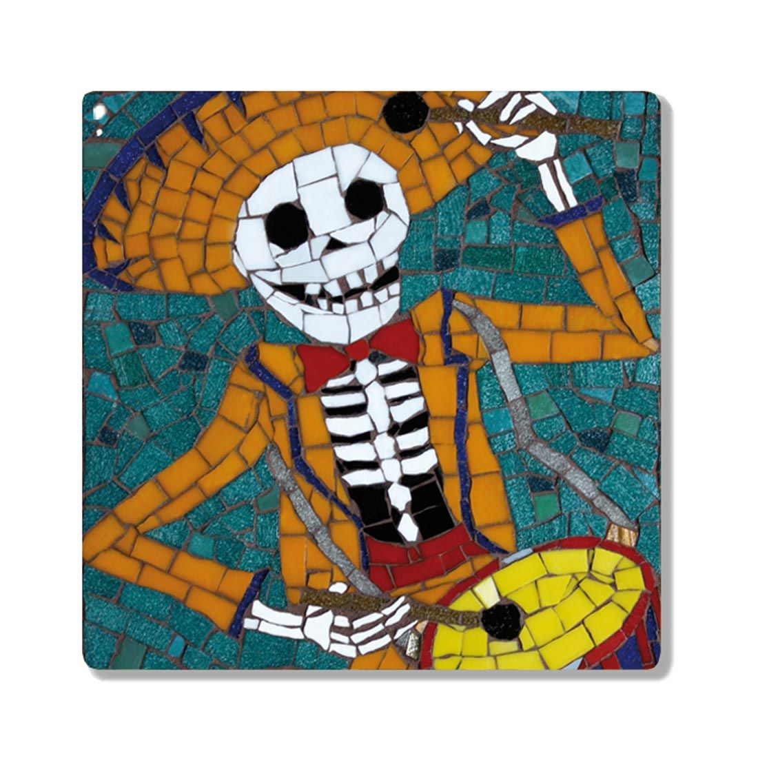 Paolo playing the drums day of the dead skeleton ceramic coaster paolo ceramic coaster skeleton playing the drums sugarskull dayofthedead skulls skeleton dailygadgetfo Choice Image