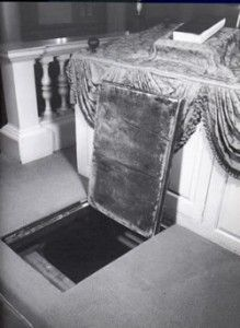 Trap Door to Secret Room in Synagogue