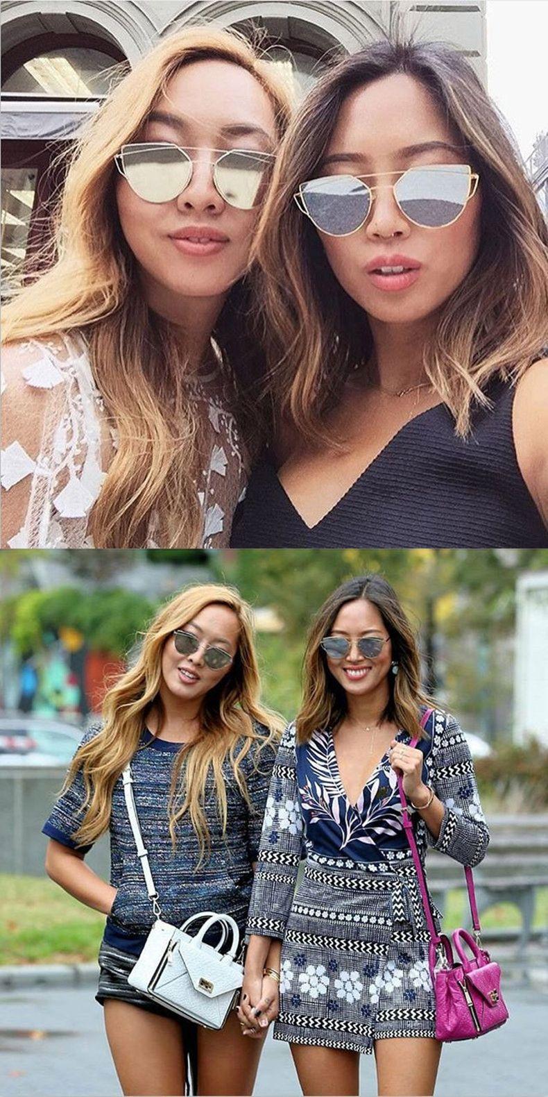 3e118573e780 HUITUO Retro Cat Eye Metal Frame Sunglasses Women Fashion Luxury Top Brand Designer  Cat s Glasses Vintage