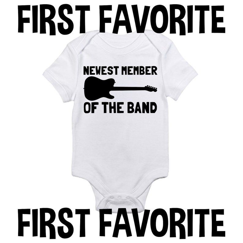 Band Baby Grow Guitar Baby Clothes Guitar Baby Shower Newest Member Of The Band Romper Rock Baby Clothes