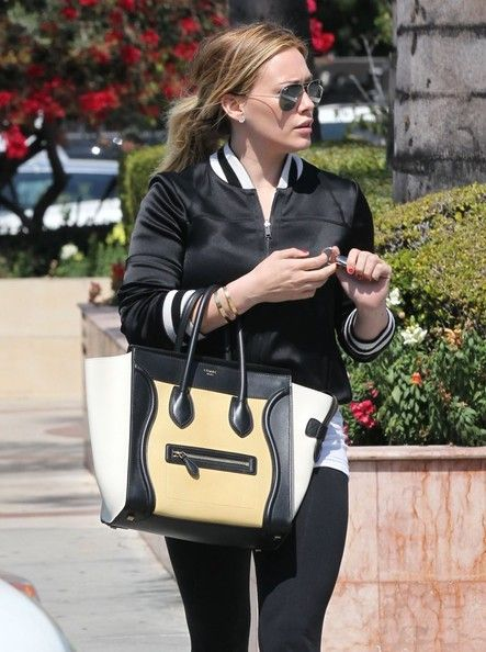 Hilary Duff Leather Tote