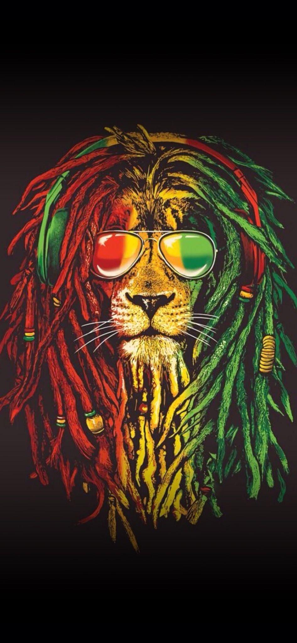 Pin Von Wallpapers Phone Pad Hd Auf 9 18 Phone Lowen Bilder Lowe Hintergrundbild Bob Marley Kunst