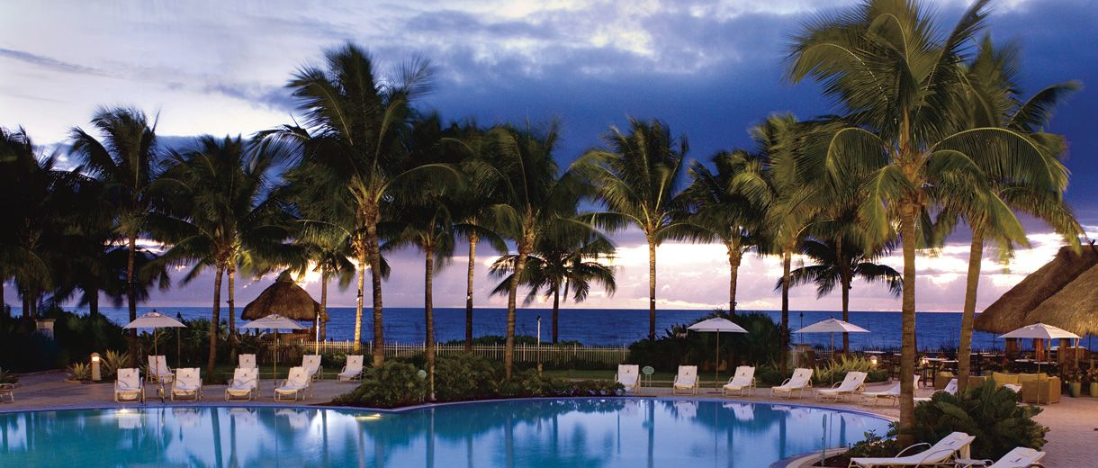 Behold The Sight Of A Shimmering Pool At Ritz Carlton Key Biscayne Miami