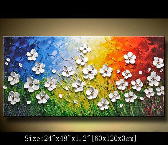 Art mural contemporain moderne de peinture textur e tableau pinterest art mural - Tuto peinture abstraite contemporaine ...