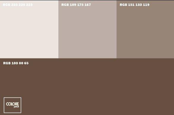 Abbinamento diverse tonalit di marrone home staging in for Abbinamenti colori salotti