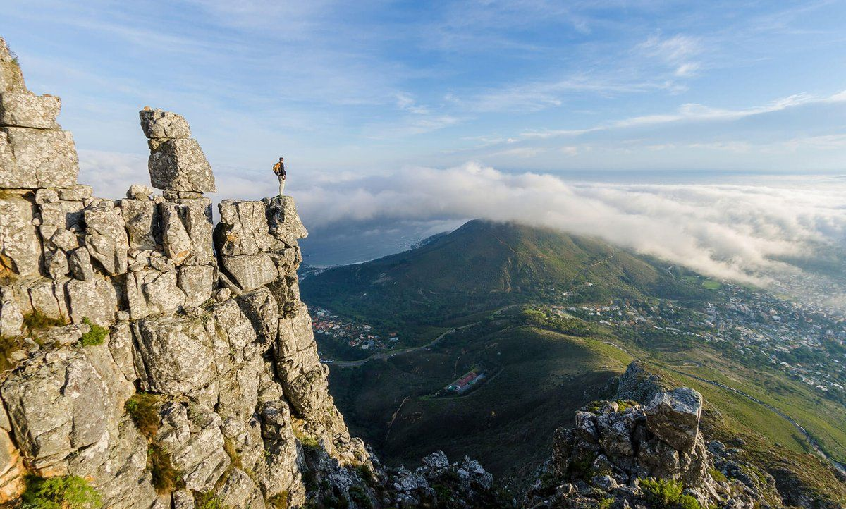 A hike up Table Mountain affords spectacular views of Cape