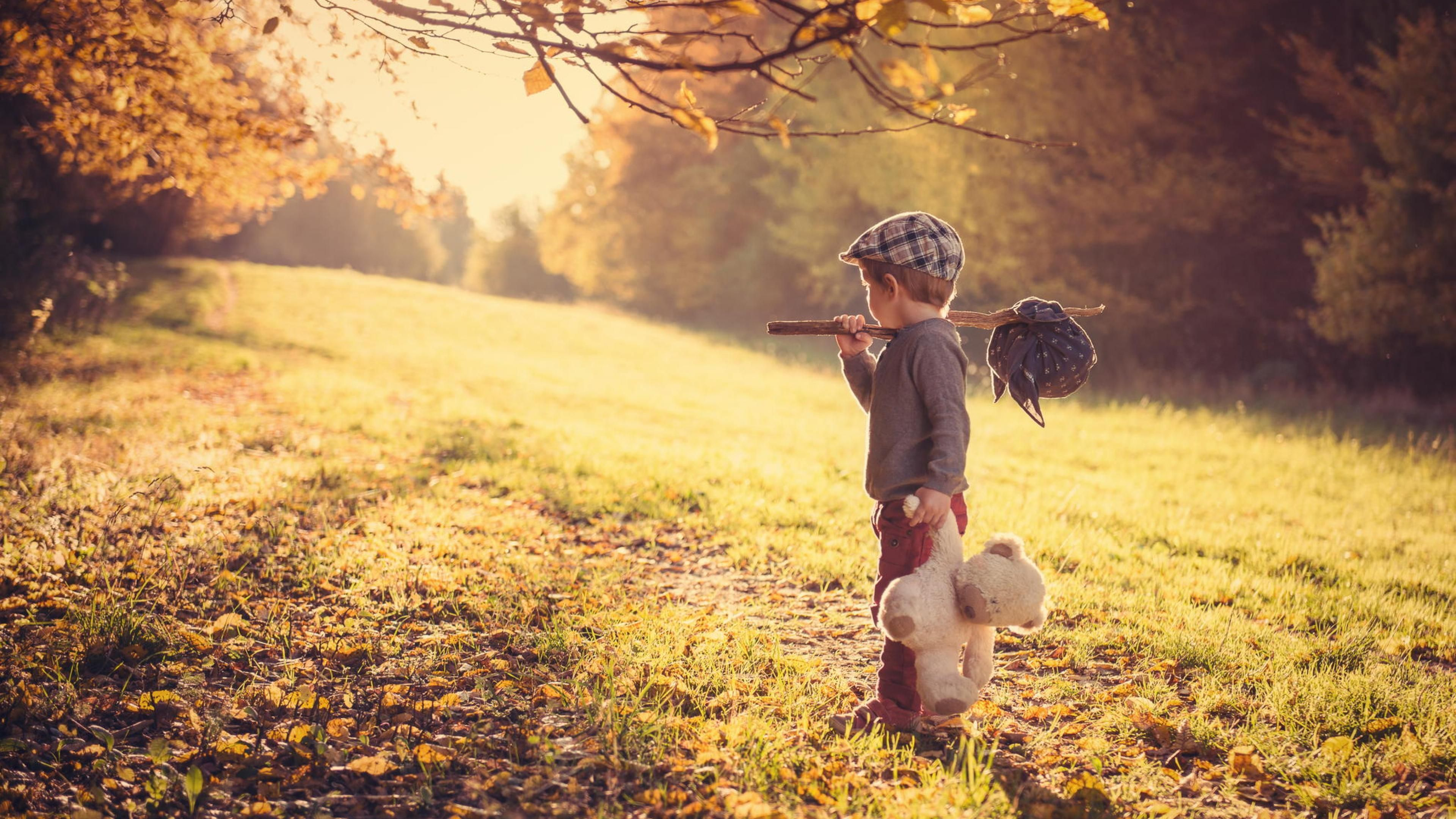 boy and teddy bear wallpaper | cute baby wallpapers | boy