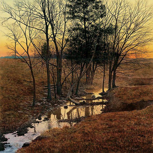 Sunrise Creek: Steven Kozar: Giclee Print - Artful Home