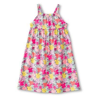 Toddler Girls' Floral Empire Maxi Dress - Moxie Peach