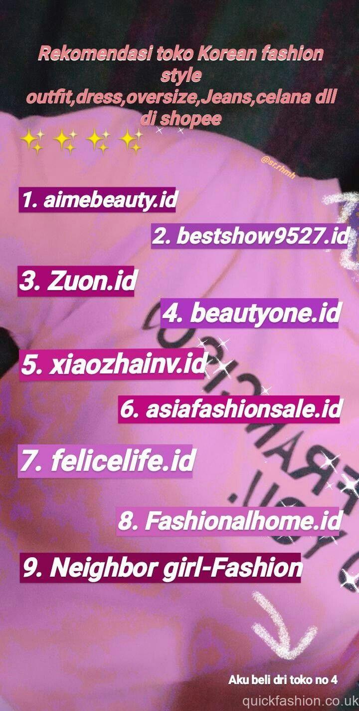 Korean Trend Fashion Shopee Di 2020 Gaya Remaja Wanita Bergaya Gaya Hidup Minimalis