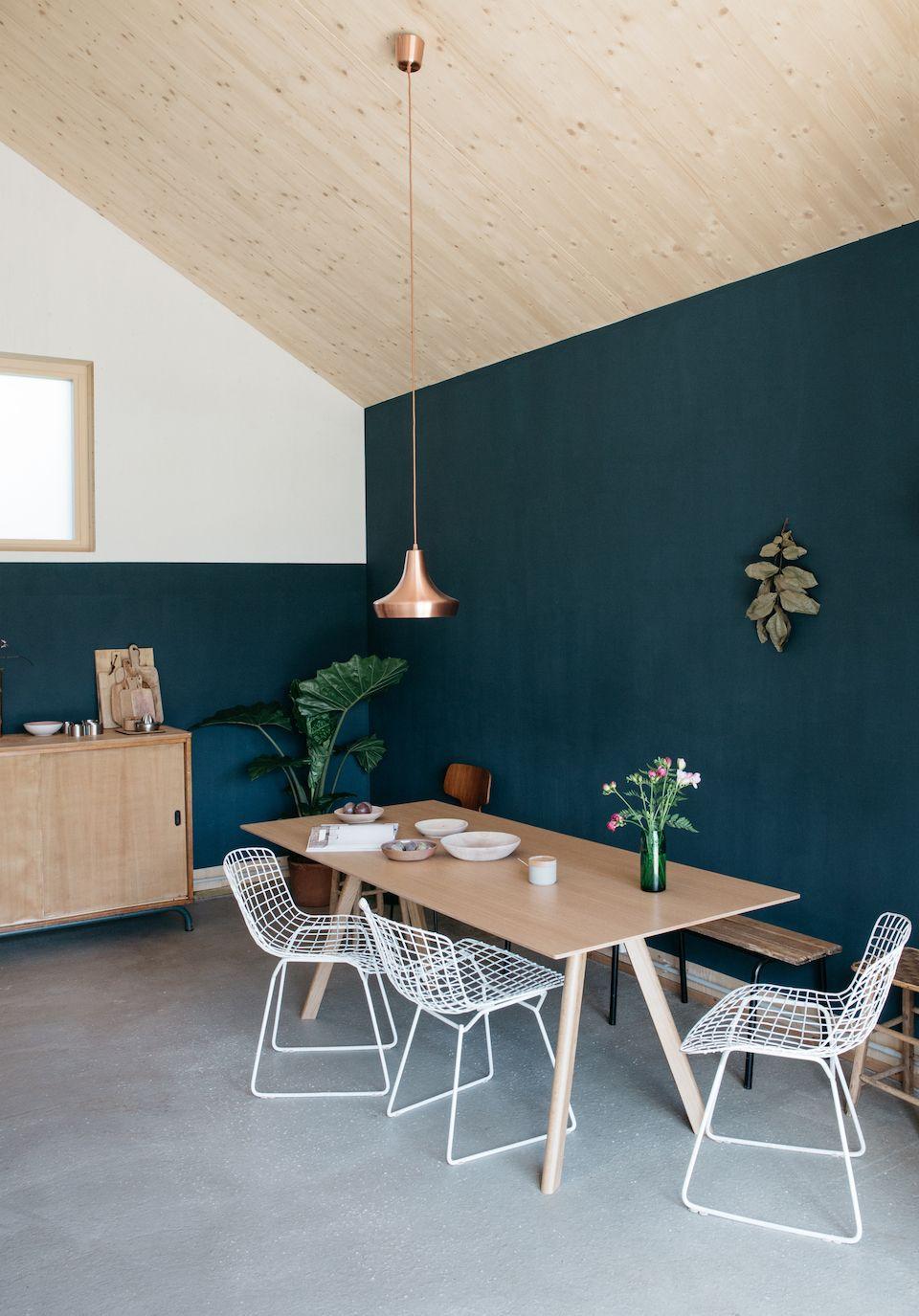 Association Couleur Peinture Salon Salle À Manger chez aurélie lécuyer | salle à manger bleue, déco salle à