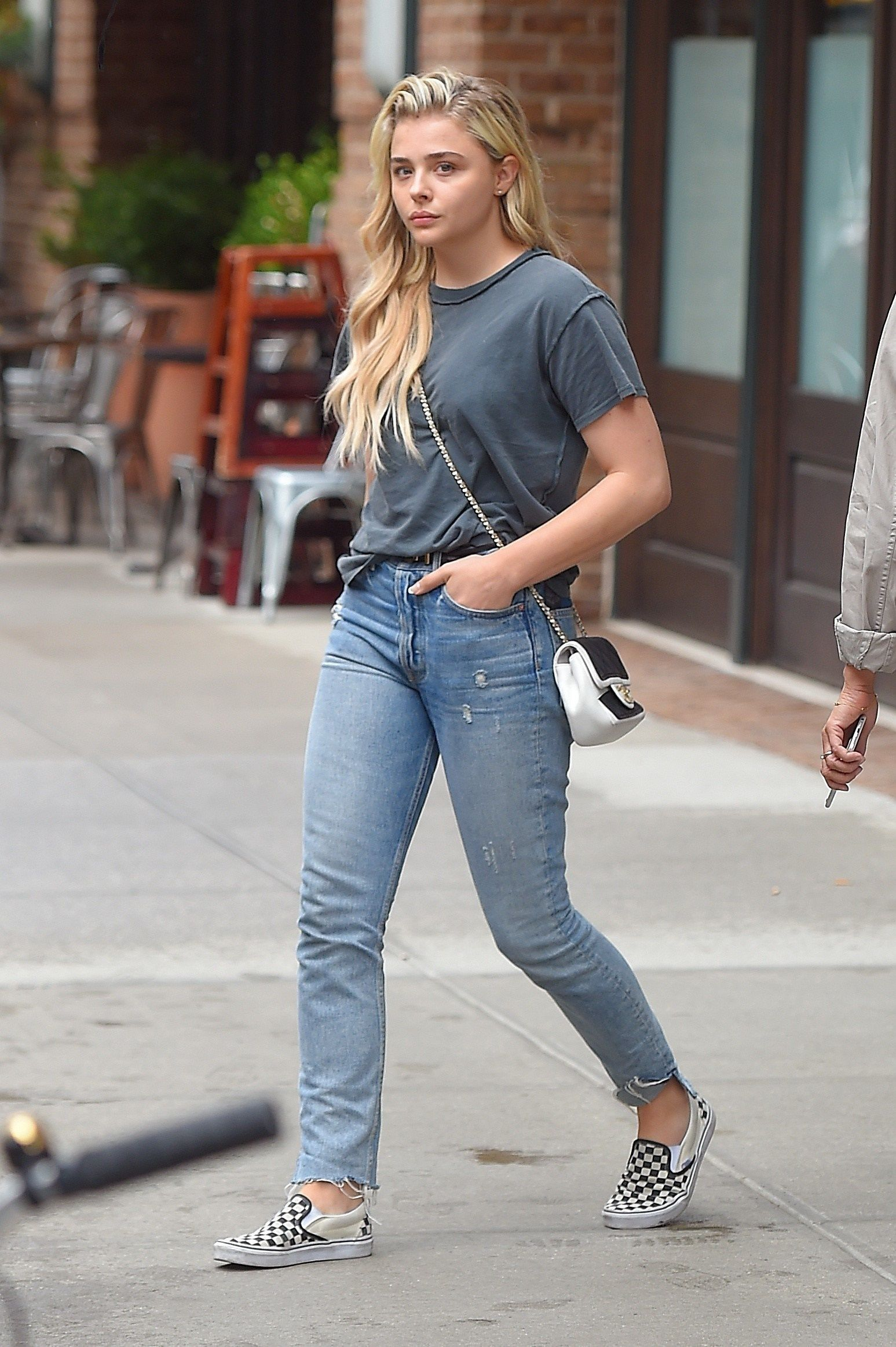 9174c94d Actress Chloe Moretz wearing Vans sneakers & a Chanel bag as she leaves her  #NYC hotel. #brands #Instagram #streetstyle #celebsightings