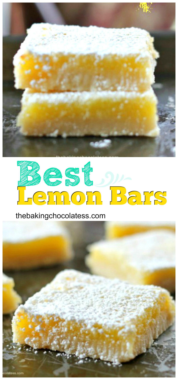 Best Lemon Bars #desserts