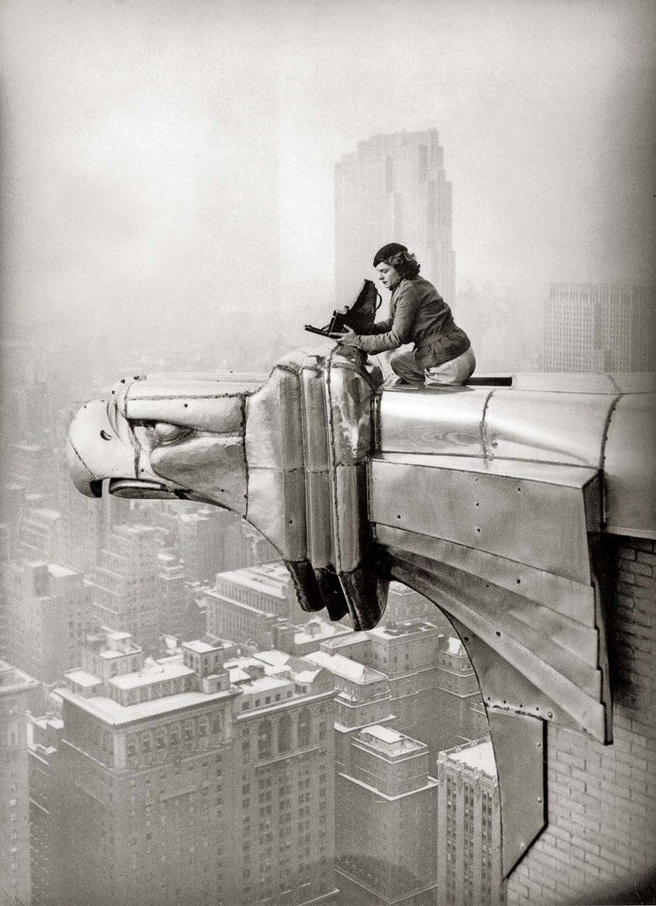 Margaret Bourke White Perched On The Eagle Of The Chrysler
